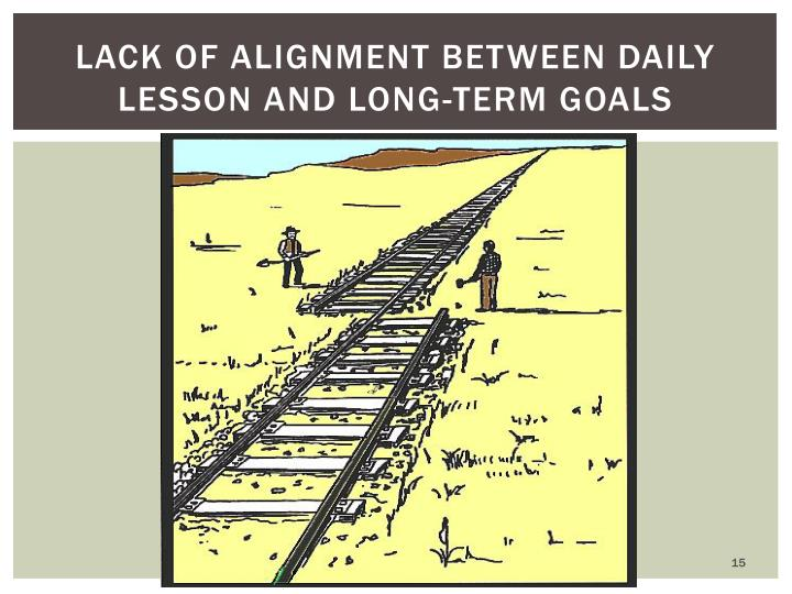 lack of alignment between daily lesson and long-term goals
