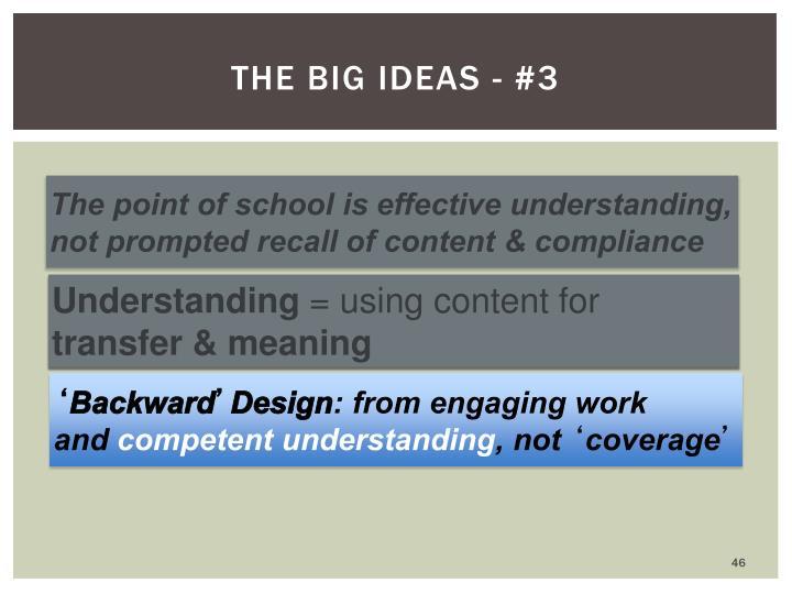 The big ideas - #3