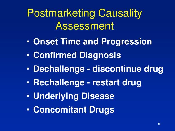 Postmarketing Causality Assessment
