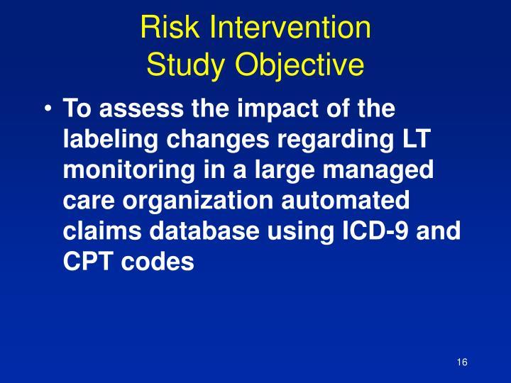Risk Intervention