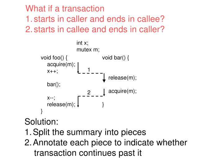What if a transaction