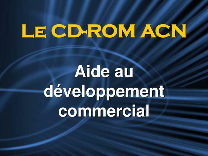 Le CD-ROM ACN