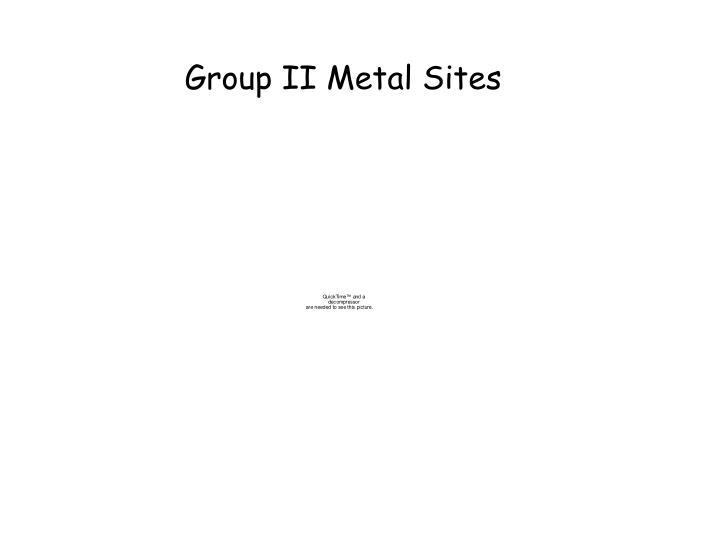 Group II Metal Sites