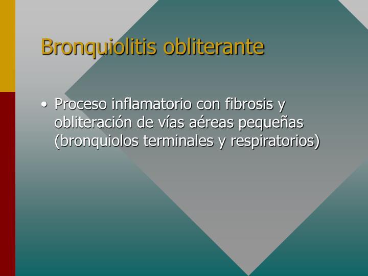 Bronquiolitis obliterante
