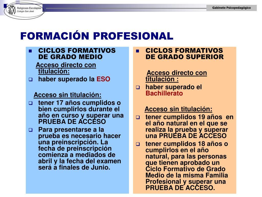 Ppt Bachillerato Grados Universitarios Y Ciclos