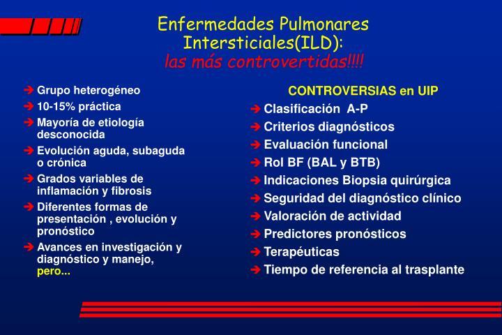 Enfermedades pulmonares intersticiales ild las m s controvertidas