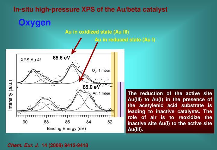 Au in oxidized state (Au III)