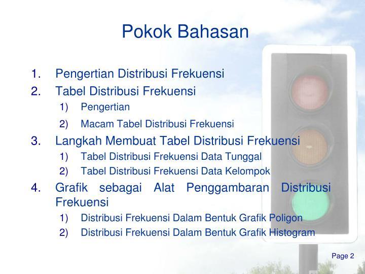 Ppt distribusi frekuensi powerpoint presentation id3387400 pokok bahasan ccuart Choice Image