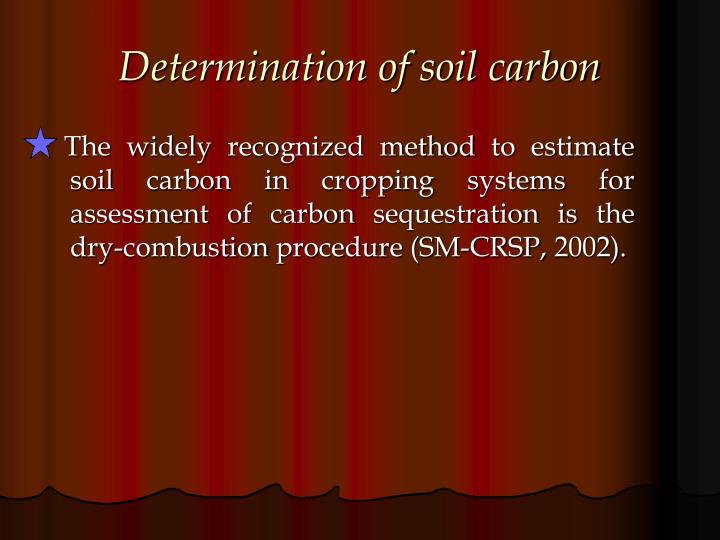 Determination of soil carbon