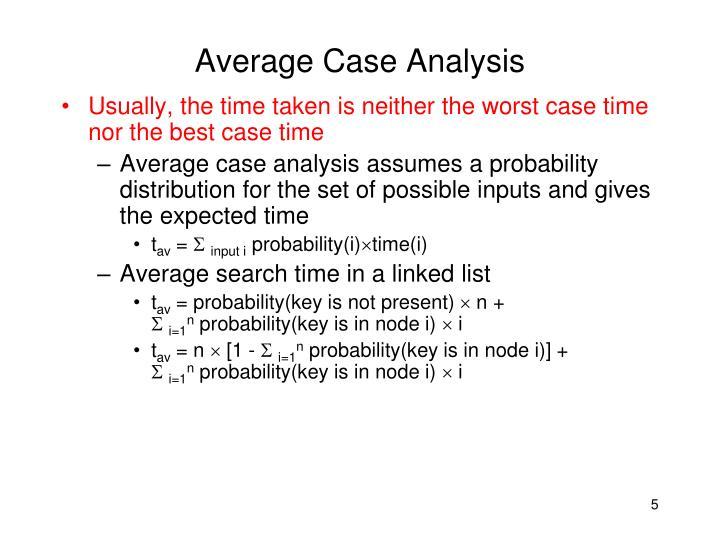Average Case Analysis