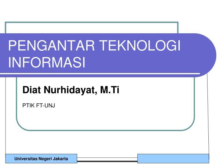 pengantar teknologi informasi n.
