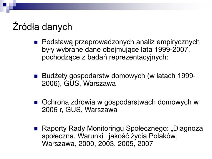 R d a danych