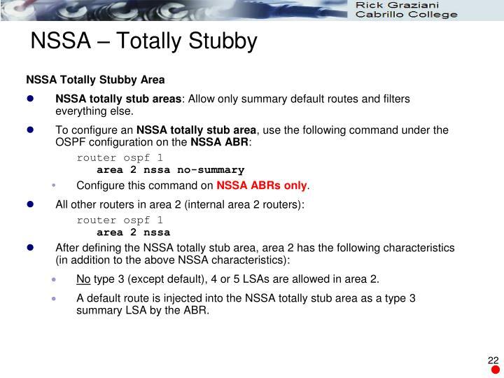 NSSA – Totally Stubby