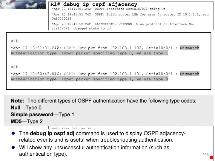 R1# debug ip ospf adjacency