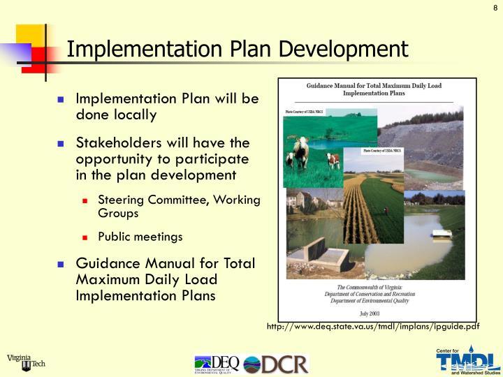 Implementation Plan Development