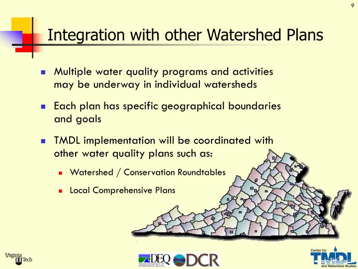 Integration with other Watershed Plans