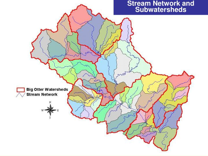 Stream Network and Subwatersheds