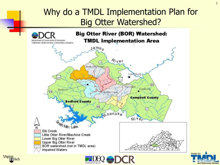Why do a tmdl implementation plan for big otter watershed