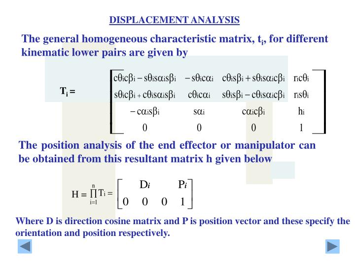 DISPLACEMENT ANALYSIS