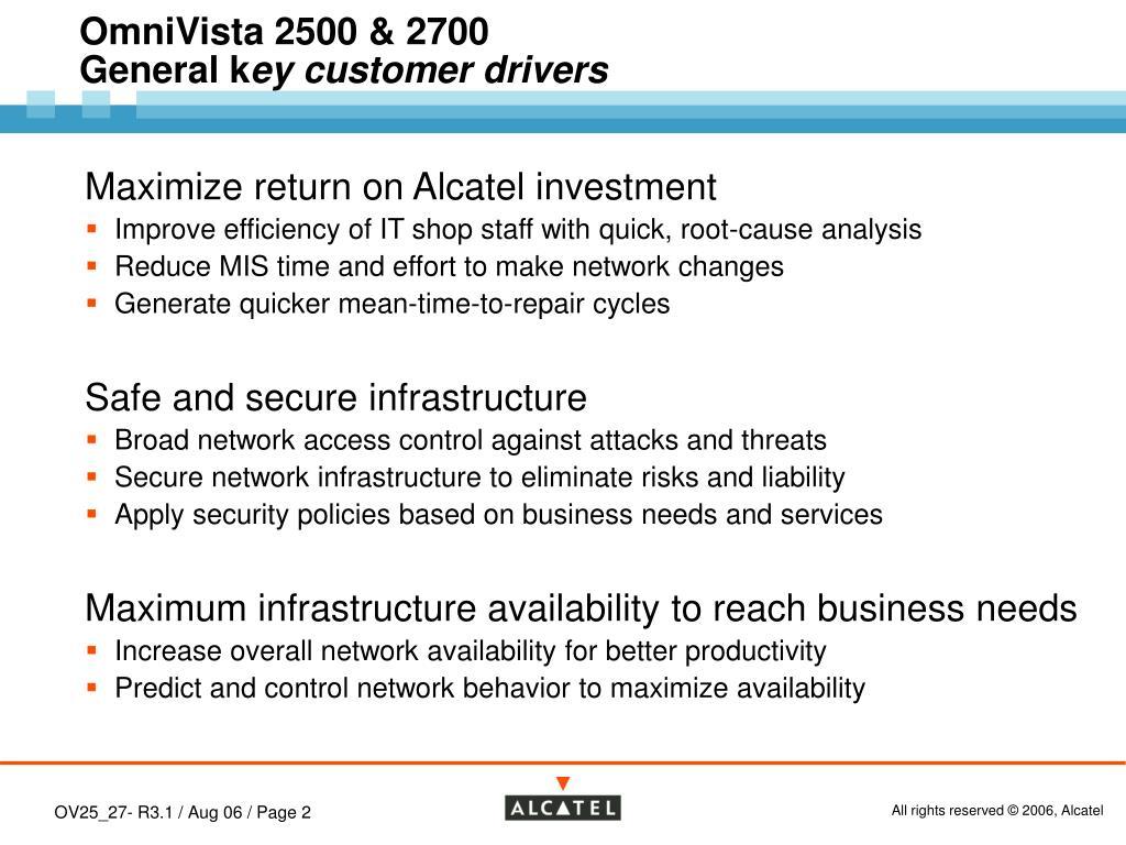 PPT - Alcatel OmniVista 2500 & 2700 Releases 3 0 1 & 3 1