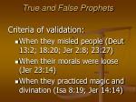true and false prophets