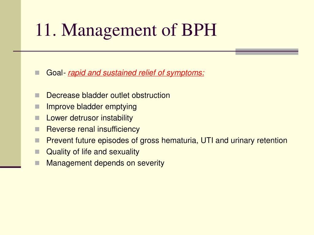 benign prostatic hyperplasia treatment ppt a prosztatagyulladás hatékony kezelése