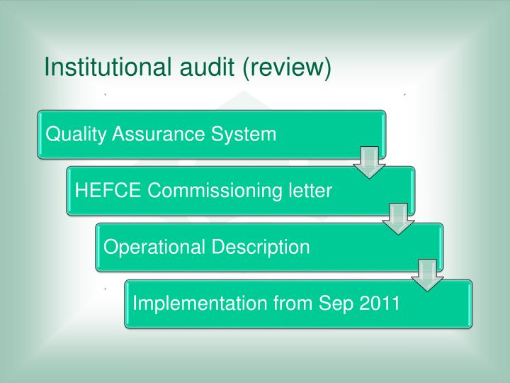 Institutional audit (review)