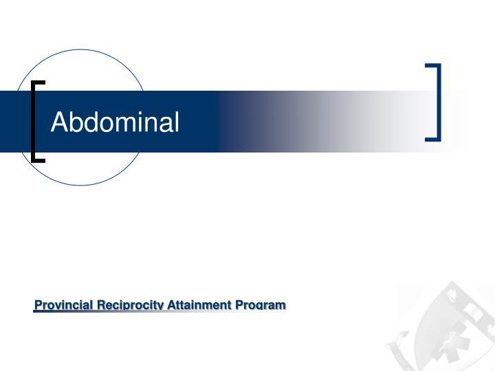 abdominal n.