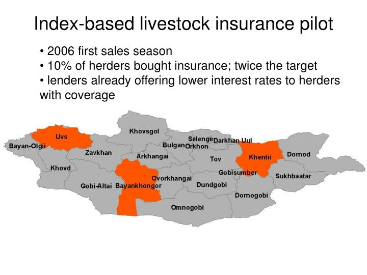 Index-based livestock insurance pilot