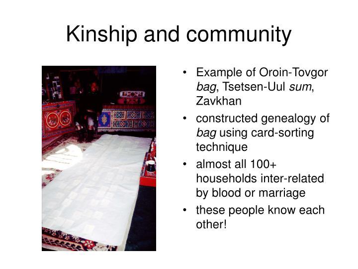 Kinship and community