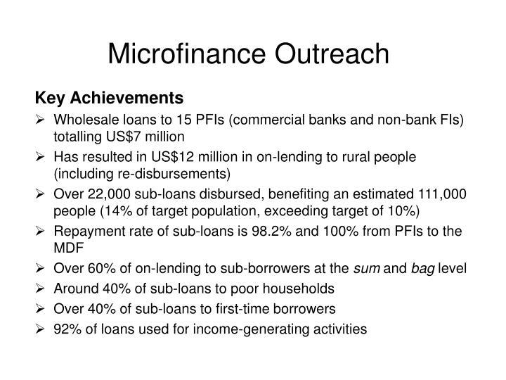 Microfinance Outreach
