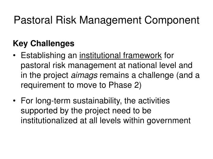 Pastoral Risk Management Component