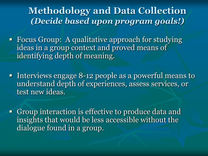 Methodology and Data Collection