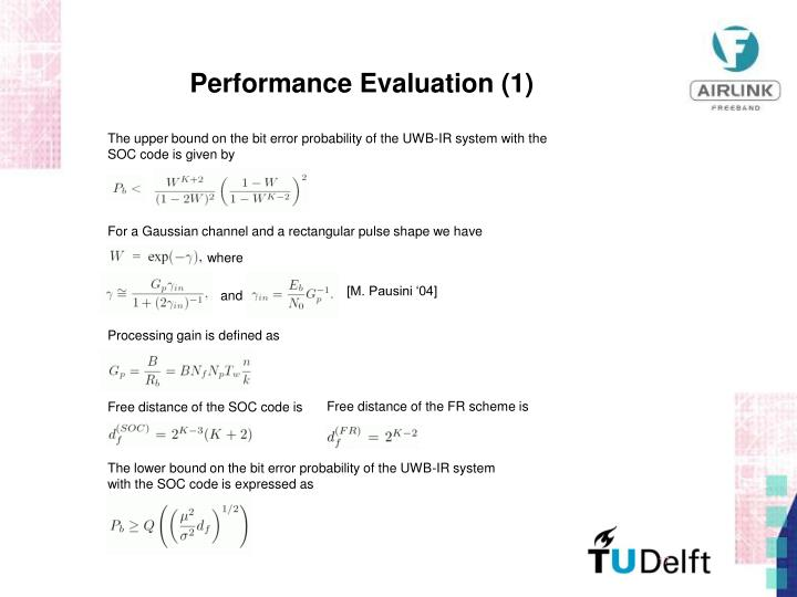 Performance Evaluation (1)