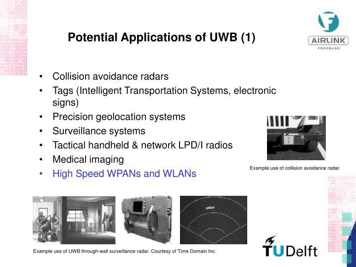 Example use of UWB through-wall surveillance radar. Courtesy of Time Domain Inc.