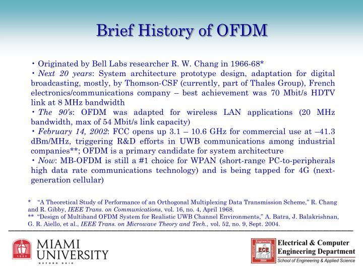 Brief History of OFDM