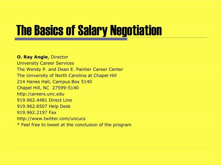 the basics of salary negotiation