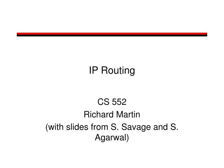 ip routing n.
