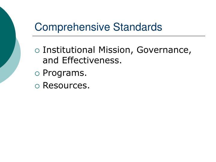 Comprehensive Standards