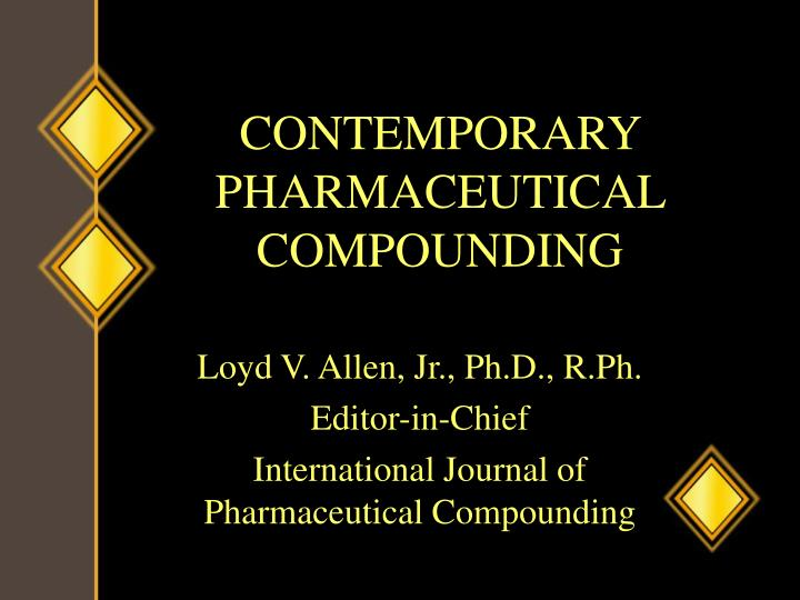 contemporary pharmaceutical compounding