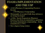 fdama implementation and the usp