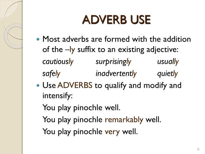 ADVERB USE