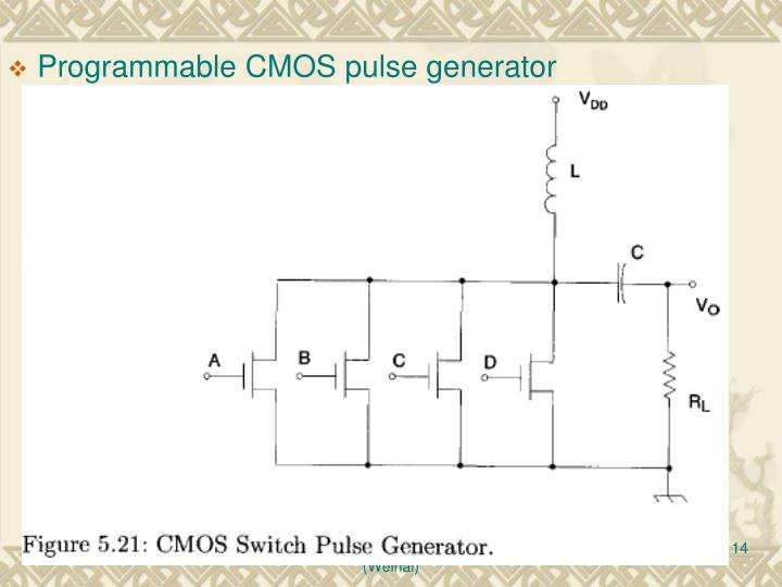 Programmable CMOS pulse generator