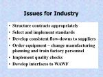 issues for industry