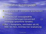 quantitative soziolinguistik