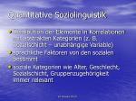 quantitative soziolinguistik1