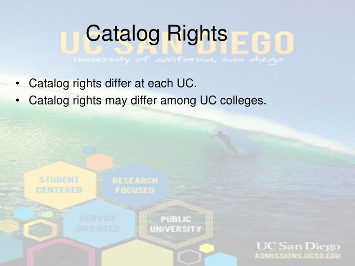 Catalog Rights