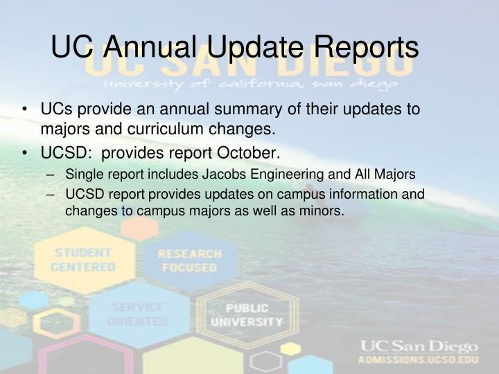 UC Annual Update Reports