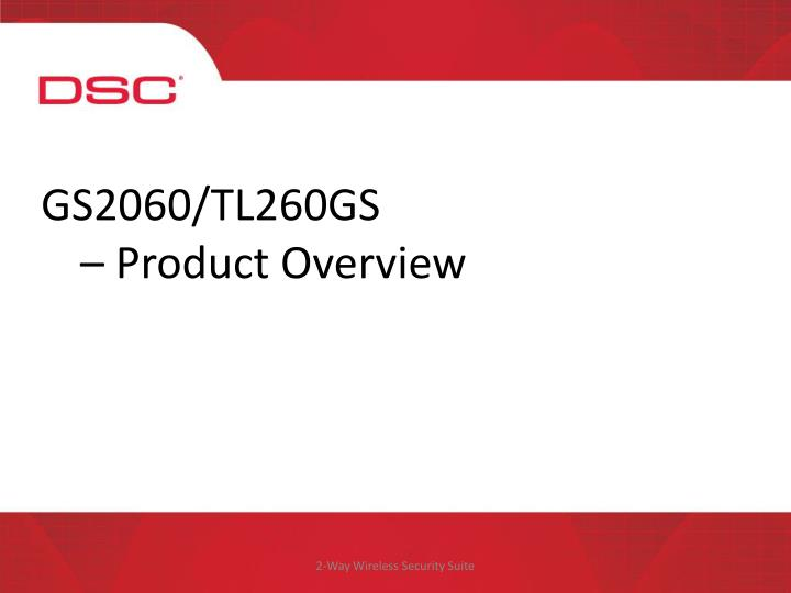 Gs2060 tl260gs product overview