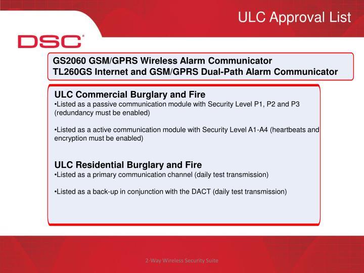 ULC Approval List